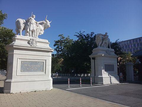 Toranlage zum Central Viehmarkt St. Marx in Wien
