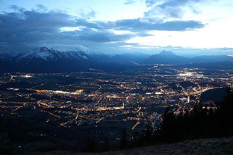 Lichtverschmutzung in der Stadt Salzburg