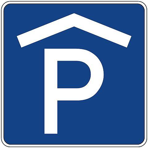 Parkhaus-Schild